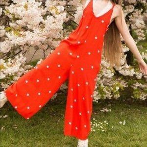 NWOT Dream Big Polka Dot Free People Jumpsuit
